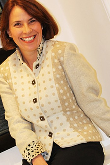 Cream wool jacket by Jenny Edwards-Moss. Stow-on-the-Wold.