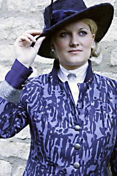 Blue 'people' jacket. By Jenny Edwards-Moss.