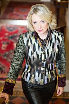 Stripey silk jacket. By Jenny Edwards-Moss.