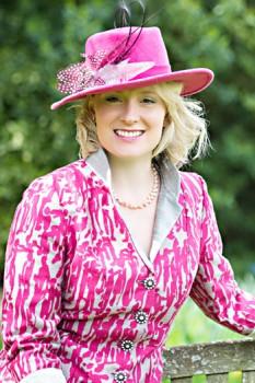 Pink 'people' jacket. By Jenny Edwards-Moss.