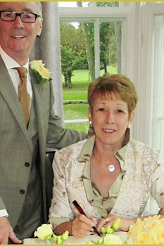 Mature Bride wedding Outfit by Jenny Edwards-Moss from Stow-on-the-Wold