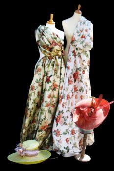 Floral Silk Dress Mock Up