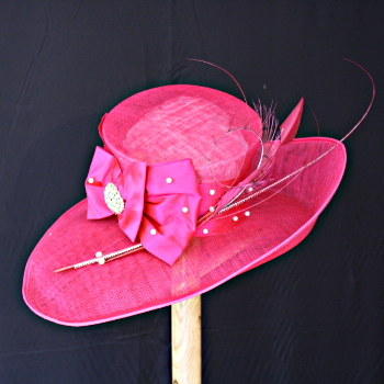 Fuchia Wedding Hat