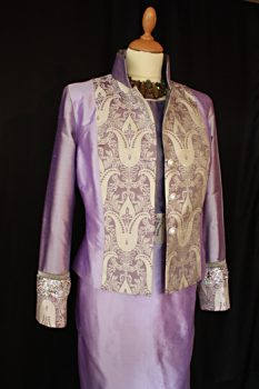 Lilac Silk Jacket and Dress
