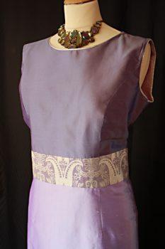 Lilac Silk Shift Dress