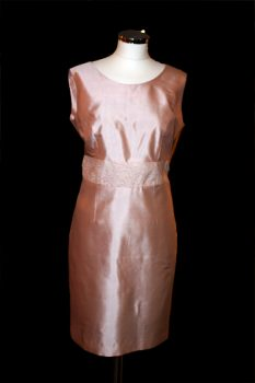 Rose Pink Silk Shift Dress