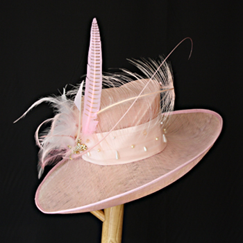 Pink Wedding Hat by Jenny Edwards-Moss