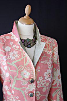 Pink Sillk Damask Jacket