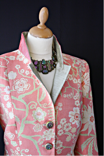 Pink Sillk Damask Jacket
