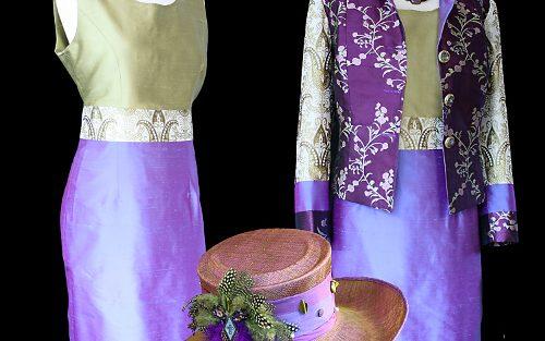 Purple Jacket Dress and Hat