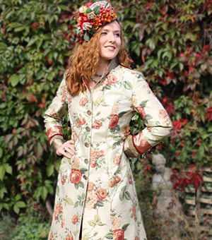 Floral Silk Wedding Coat
