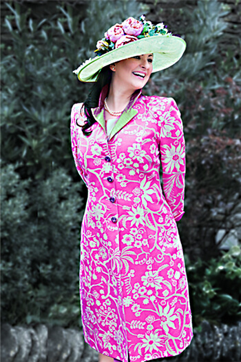 Pink Silk Brocade Coat