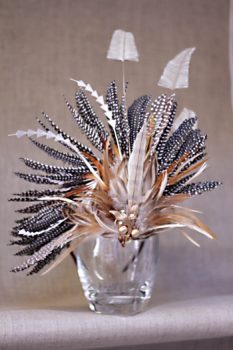 Exotic Feathered Hat by Jenny Edwards-Moss, Stow-on-the-Wold.