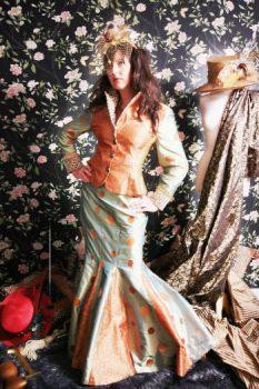 Vintage Silk Jacket and Skirt