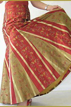 Full Length Silk Party Skirt