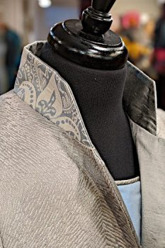 Grey Kaleidoscope Coat Close Up