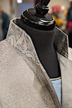 Grey Kaleidoscope Coat Close Up