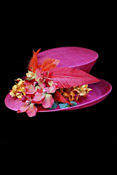 Fuchsia Pink Wedding Hat